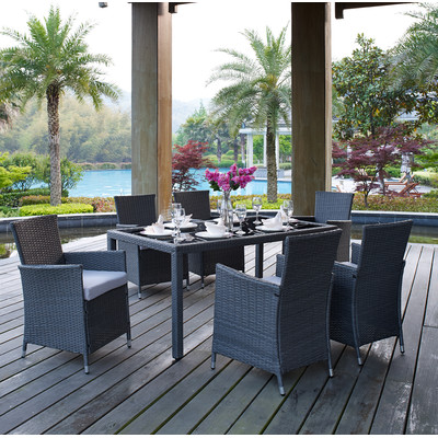Outdoor Wicker Look Patio Dining Set