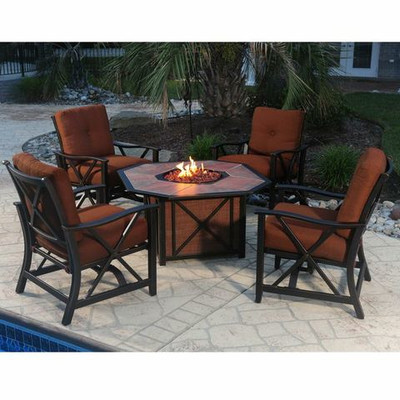 Outdoor Conversation Set with Firepit